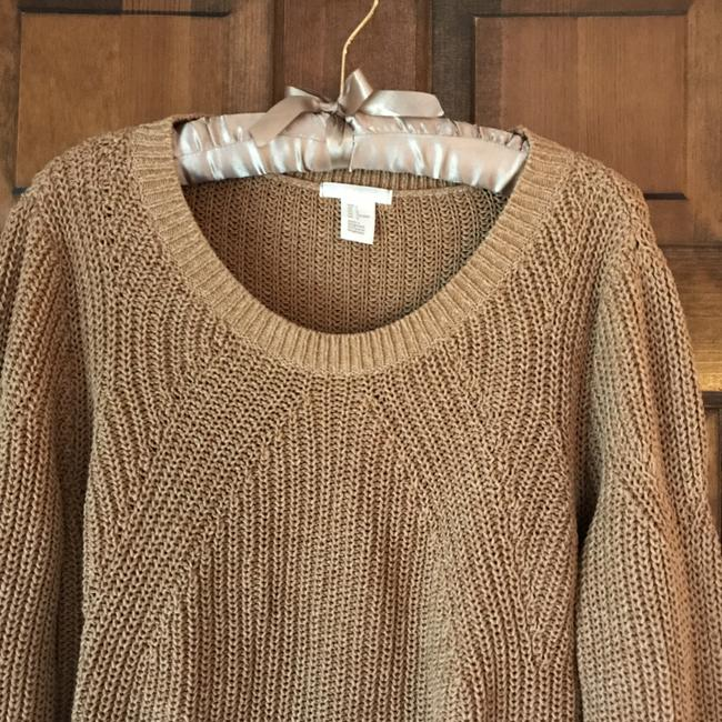 H&M Long Sleeves Rounded Neckline Pullover Style Vented Cotton Blend Sweatshirt Image 1