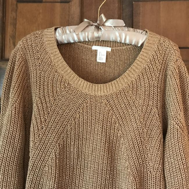 H&M Long Sleeves Rounded Neckline Pullover Style Vented Cotton Blend Sweatshirt Image 4