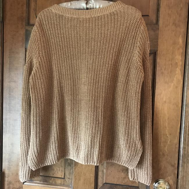 H&M Long Sleeves Rounded Neckline Pullover Style Vented Cotton Blend Sweatshirt Image 5