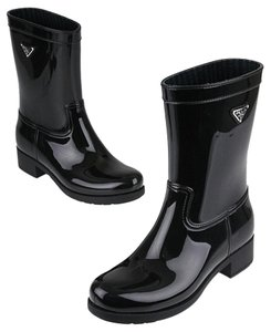 Prada Rainboot Midcalf Logo black Boots
