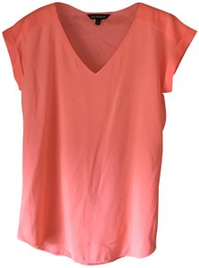 Express Pullover Style V-neck Cuffed Cap Sleeve Silky Feel Tunic
