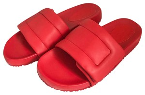 Maison Margiela Puffy Leather Future Red Sandals