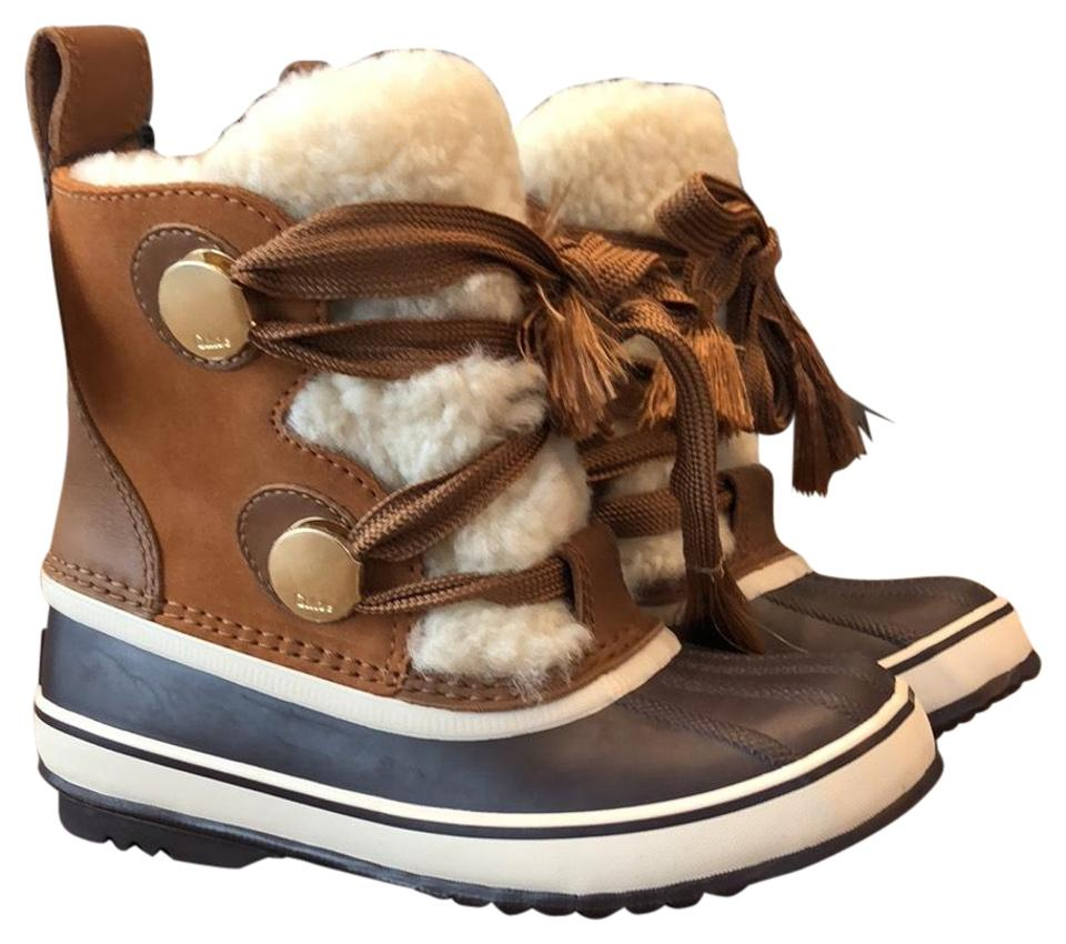 detailed look 19d5c 2b6ee Chloé Camel Brown Sorel Collaboration Winter Boots/Booties Size US 7  Regular (M, B) 23% off retail