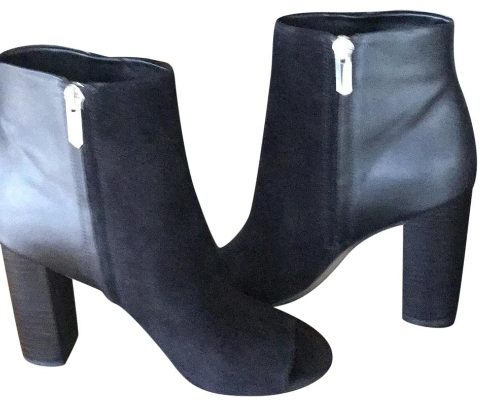 c8c7d29214637 Sam Edelman Black Suede and Black Leather Yarin Boots Booties Size ...