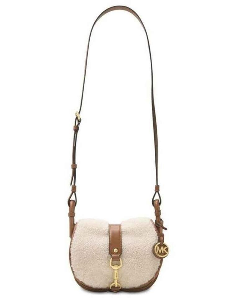 708023e3e43c87 Michael Kors Shearling Jamie Saddle Cross Body Bag Image 0 ...