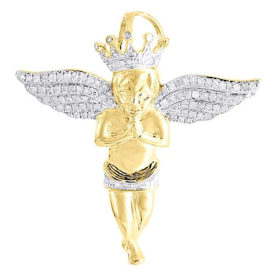 Preload https://img-static.tradesy.com/item/22820934/jewelry-for-less-yellow-diamond-pendant-mens-sterling-silver-praying-angel-wings-045-ct-charm-0-0-540-540.jpg