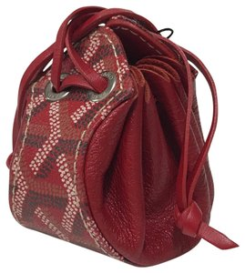 Goyard Drawstring Purse Coin Pouch Satchel in Red