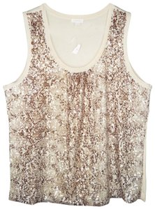 Chico's Python Shimmer Sequin Bling Top