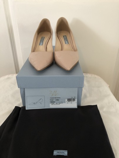 Prada Lounoutin Pointed Toe Pigalle Kitten Nude Cipria Pumps Image 10