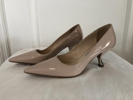 Prada Lounoutin Pointed Toe Pigalle Kitten Nude Cipria Pumps Image 3
