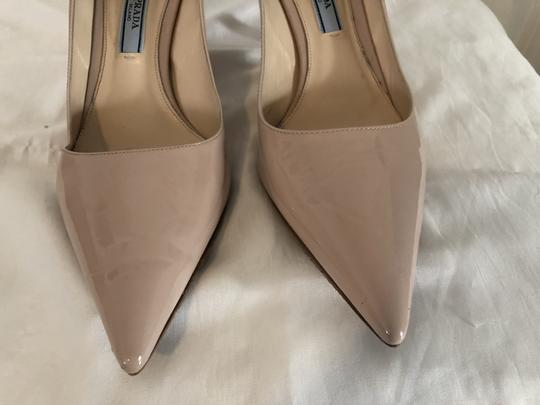 Prada Lounoutin Pointed Toe Pigalle Kitten Nude Cipria Pumps Image 9