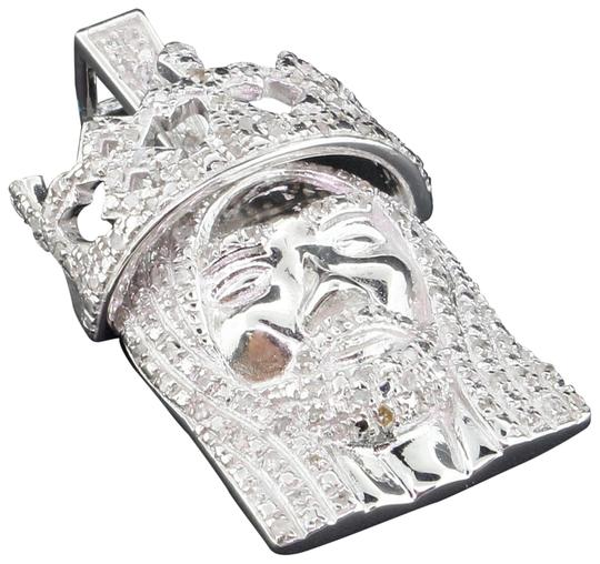 Preload https://img-static.tradesy.com/item/22821198/jewelry-for-less-silver-diamond-jesus-face-pendant-925-sterling-crown-060-ct-charm-0-1-540-540.jpg