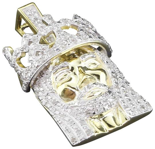 Preload https://img-static.tradesy.com/item/22821232/jewelry-for-less-yellow-diamond-jesus-face-pendant-925-sterling-silver-crown-060-ct-charm-0-1-540-540.jpg