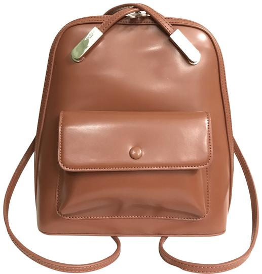 Preload https://img-static.tradesy.com/item/22821276/smooth-brown-silver-leather-backpack-0-1-540-540.jpg