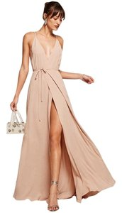 Reformation Wedding Maxi Long Wrap Plunge Dress