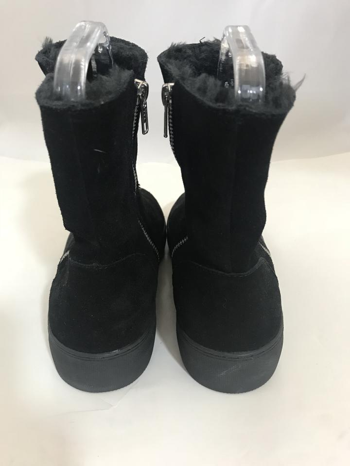 f2c20aafbccd J Slides Suede Booties Booties Rubber Sole black Flats Image 3. 1234