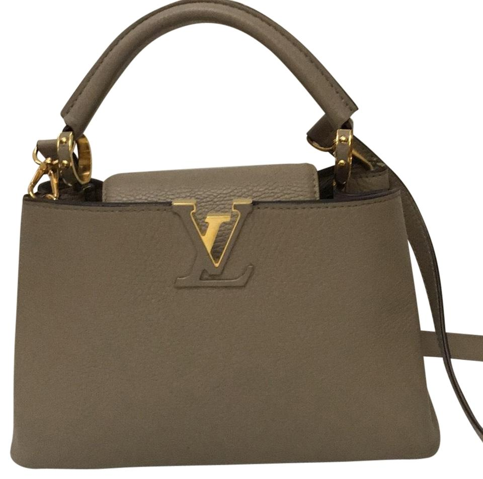 7f88320bb1c Louis Vuitton Capucines Bb Galet Taurillon Leather and Gold Hardware ...