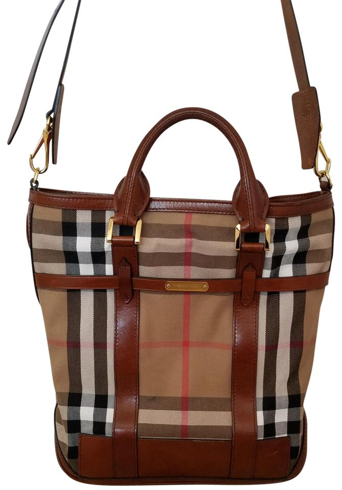 f51f3d6a0965 Burberry Prorsum Bridle House Check Medium  kenny  Dark Tan Material ...