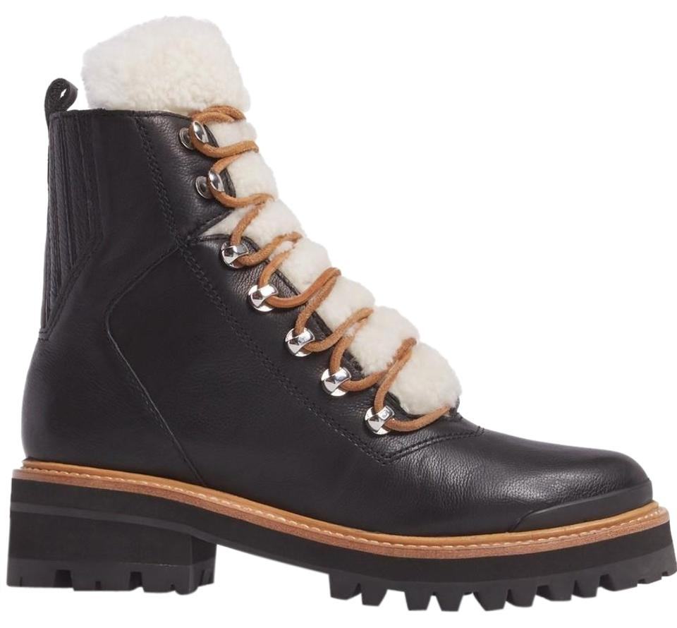 29682c91734 Marc Fisher Black Izzie Genuine Shearling Lace-up Boots/Booties Size US 8  Regular (M, B) 3% off retail