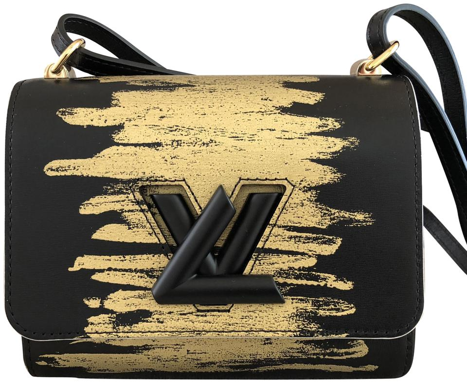 8dea477313bd Louis Vuitton Twist Black/Gold Pm with Hardware Black/Gold Leather ...