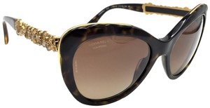 4c2a574fe2e35 Chanel Runway Butterfly Gold Blooming Flower Polarized Sunglasses 5354  714 S9