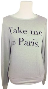 Wildfox Oversized Comfy France Paris Sweater