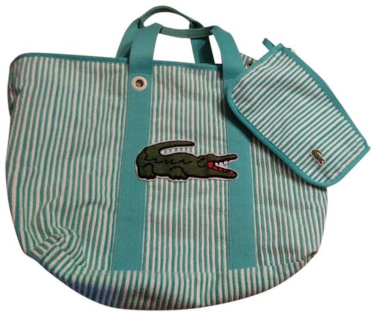 Preload https://img-static.tradesy.com/item/22821847/lacoste-ready-for-everything-summer-terry-aqua-green-and-white-canvas-tote-0-6-540-540.jpg
