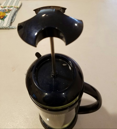 Blue Coffee Brewer Handheld Filter Scoop Included Midnight 3 Cups Cookware Image 2