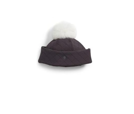Preload https://img-static.tradesy.com/item/22821936/ugg-australia-gray-water-resistant-quilted-with-genuine-shearling-pompom-hat-0-0-540-540.jpg