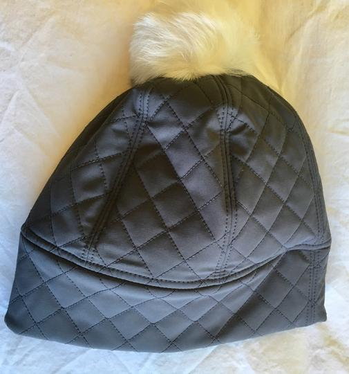 UGG Australia Water Resistant Quilted Hat with Genuine Shearling Pompom Image 3