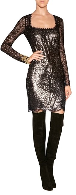 Preload https://item1.tradesy.com/images/emilio-pucci-black-gold-lace-lam-open-42-above-knee-night-out-dress-size-8-m-2282195-0-0.jpg?width=400&height=650