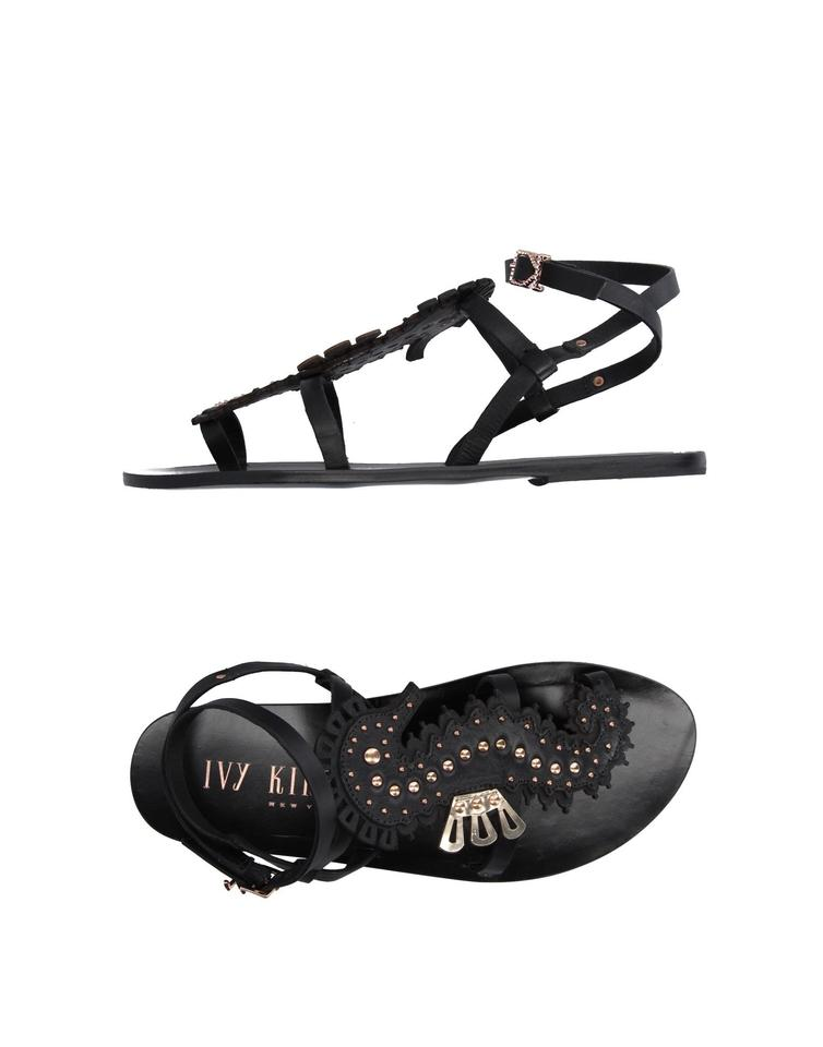 8ae47850aecd7 Ivy Kirzhner Black Strappy Leather Seahorse Gold Studs New Sandals ...