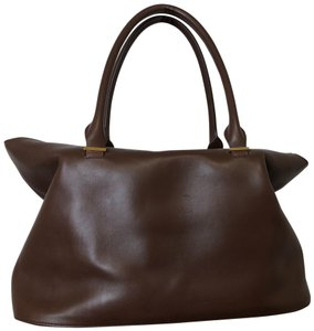 The Row Tote in brown