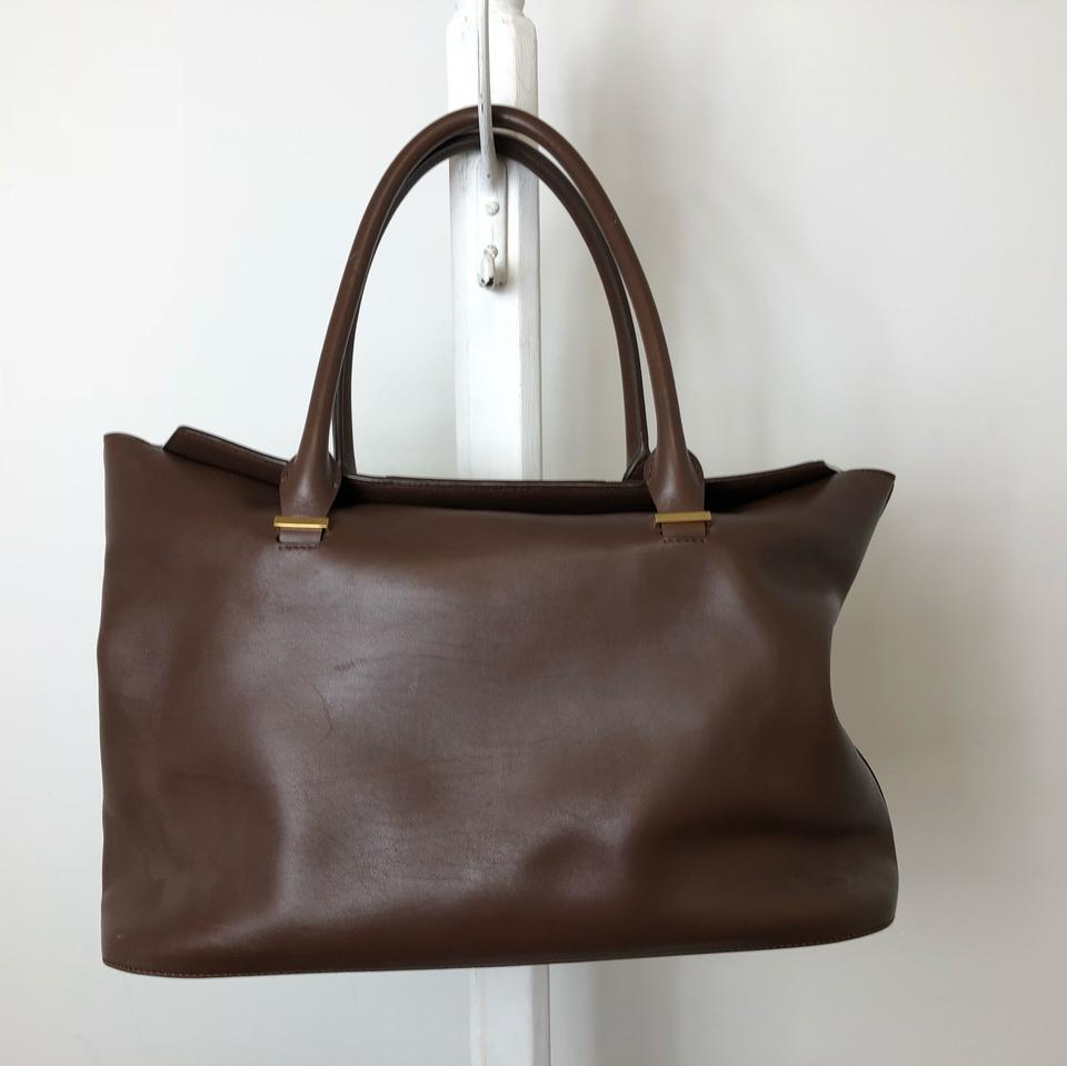 6a7621079d13 The Row Carry All Bag. Sophisticated Opportunity Brown Leather Tote -  Tradesy