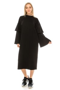 black Maxi Dress by greylab Daydress Hijab Longsleeve