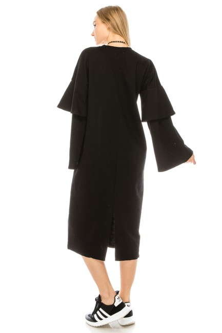 black Maxi Dress by greylab Daydress Hijab Longsleeve Image 1