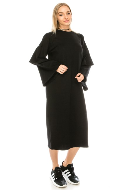 black Maxi Dress by greylab Daydress Hijab Longsleeve Image 2