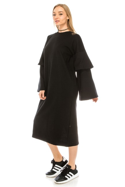 black Maxi Dress by greylab Daydress Hijab Longsleeve Image 3