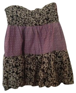 fire by Los Angeles Mini Mini Beach Cover Up Mini Skirt Black and Purple