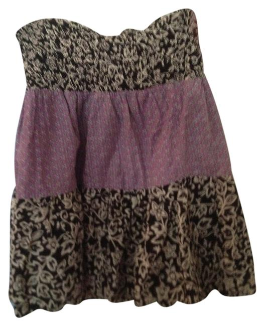 fire by Los Angeles Beach Cover Up Mini Skirt Black and Purple