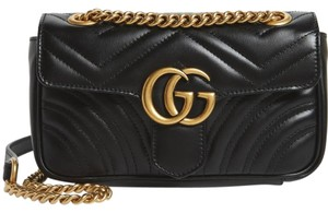 237c168ce Added to Shopping Bag. Gucci Shoulder Bag. Gucci Marmont Small Gg 2.0  Matelassé Black Leather ...