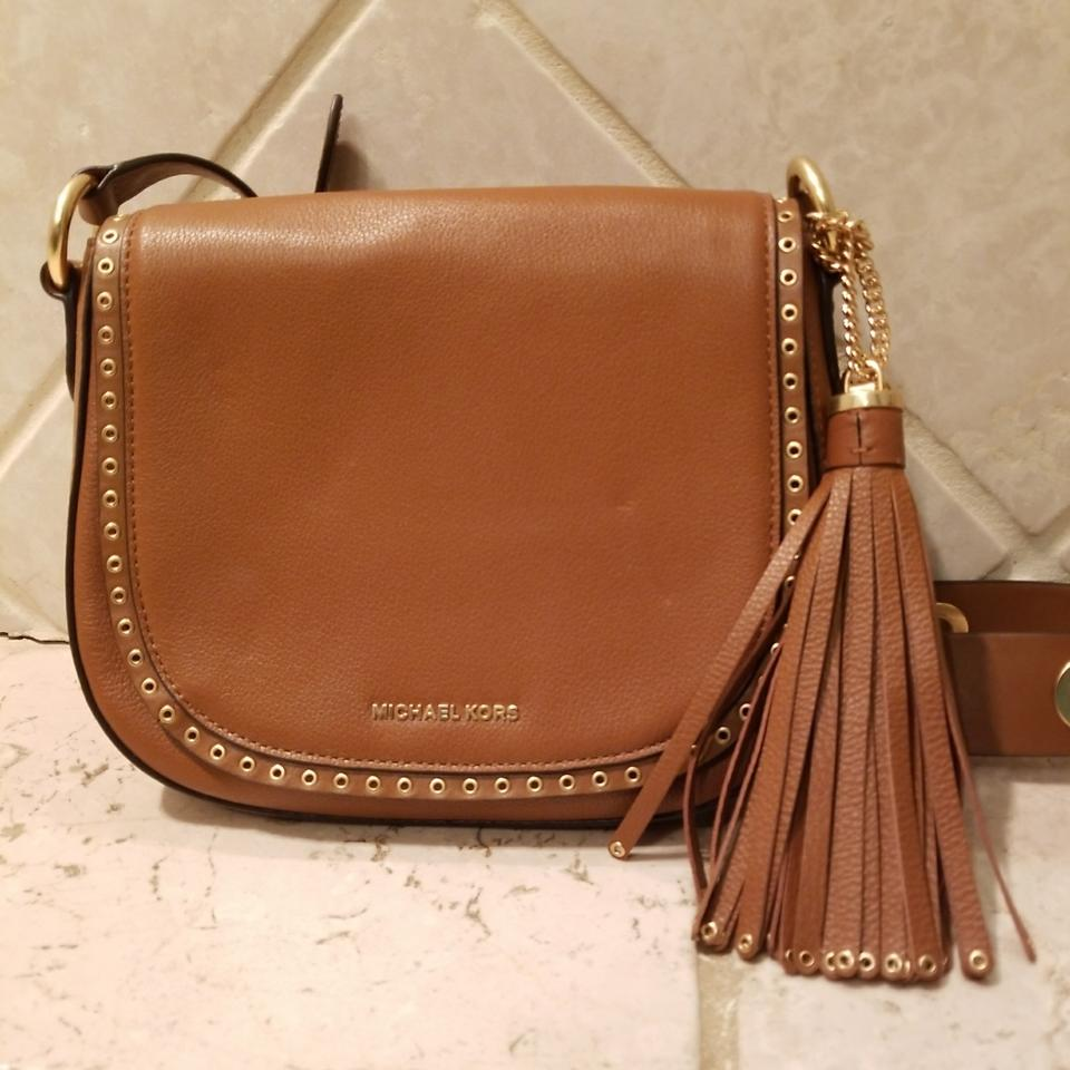 b703e2a8cec Michael Kors Camel Colored with Gold Hardware Cross Body Bag - Tradesy