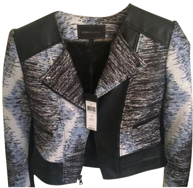 Preload https://img-static.tradesy.com/item/22822358/bcbgmaxazria-blackbluewhite-jimmy-jacket-blazer-size-0-xs-0-1-650-650.jpg