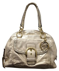 Coach Leather Pockets Large Shoulder Bag