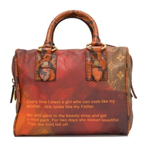 Louis Vuitton Rare Limited Edition Satchel in Red