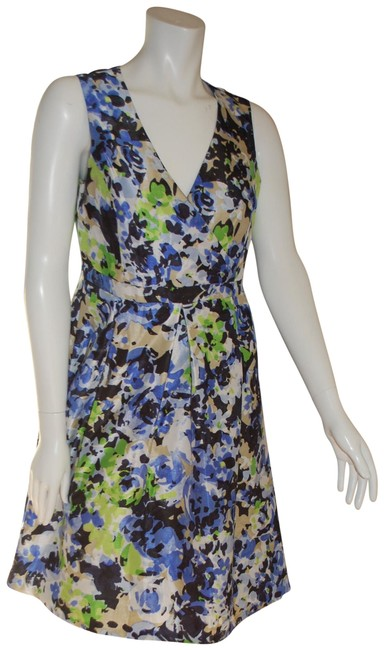 Preload https://img-static.tradesy.com/item/22822548/evan-picone-blue-black-label-floral-lined-v-neck-sleeveless-mid-length-workoffice-dress-size-4-s-0-1-650-650.jpg