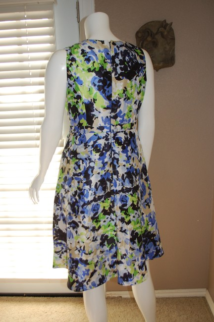 Evan Picone Floral Modest Church Dress Image 2