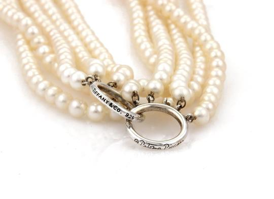 Tiffany & Co. Paloma Picasso 5 Strand Pearls Sterling Silver Ring Clasp Necklace Image 2