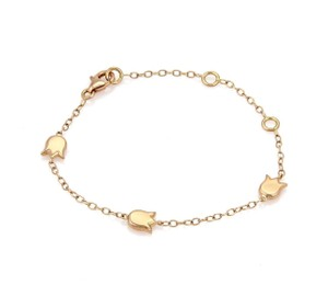 Cartier Three Tulips Charm Chain Bracelet in 18k Rose Gold w/Cert.