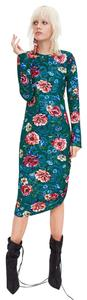Green/Red Maxi Dress by Zara 3184/286 Floral